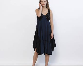 Maylee Dress - Navy Blue