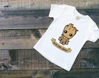 Kids Groot Shirt || I am Groot Tshirt || Toddler Shirt || Cute Like Groot || Guardians of the Galaxy || Vinyl Shirt || Graphic Tshirt