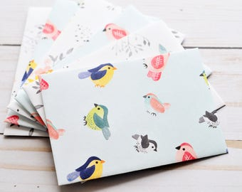 Sweet Little Song Bird Mini Cards // Set of 4 // Blank Cards // Gift Card Envelope // Enclosure Card // Guest Book //  Baby Shower Gift Card