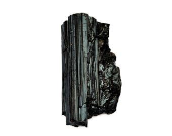 Black Tourmaline Raw Crystal (53mm x 27mm x 16mm) - Crystal Healing - Schorl - Tourmaline Crystal - Amulet Crystal