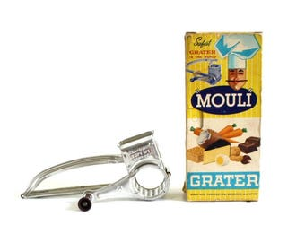Mouli Grater Hand Crank Rotary Parmesan Cheese Shredder Slicer
