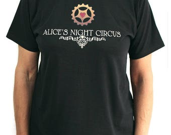 Alice's Night Circus Cog Heart T-Shirt Steampunk Music