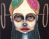 Original, girl, portrait, painting, art