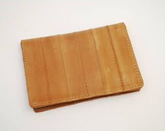 Vintage Handmade EEL Skin Credit Card Holder - 1970's Made in Korea - New Never Used