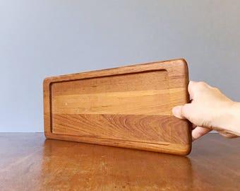 Mid Century Digsmed Denmark Danish Modern Teak Wood Tray