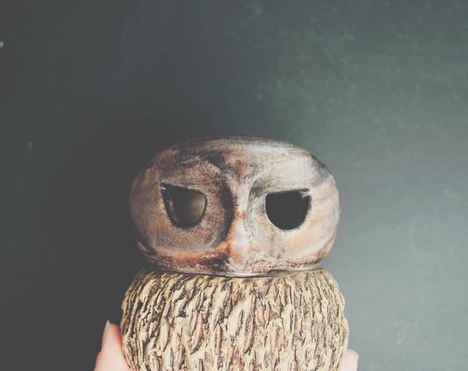 Mid Century Studio Pottery Owl Sculpture // Loneberg Keramik Sweden // Modern Bird Home Decor