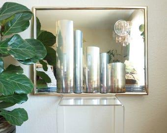 Vintage Cityscape Structural 3D Mirror