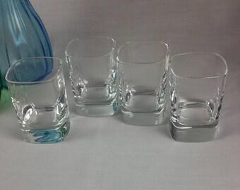 Square Shot Glasses, Clear Glass