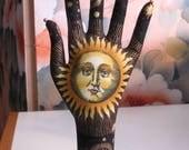 CLASSIC Sun Moon Stars Fabric HAND-Stand ~ Jewelry Display ~ Ready to Ship