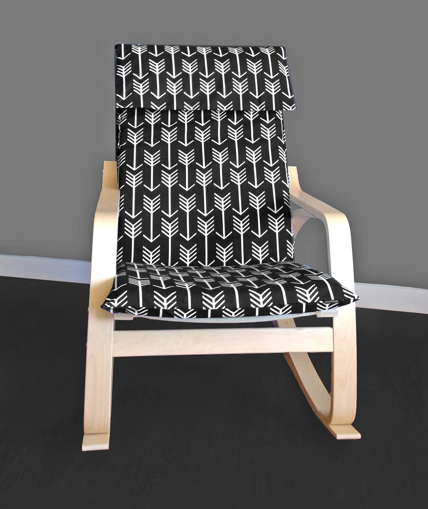 Custom ikea chair covers ikea poang arrow cushion seat cover for Custom furniture seat covers