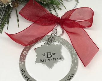 Family Christmas Ornament - Family Initial GIfts - Christmas Gifts for Family - Christmas GIfts for Friends - The Charmed Wife - Gifts Ideas