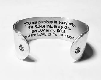 "Mother to Daughter Gift ~ ""YOU are precious in every way, the SUNSHINE in my day, the JOY in my..."" ~ Birthday Gift / Graduation Gift"
