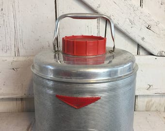 Aluminum Water cooler Picnic Jug vintage Water Cooler Beverage Thermos Featherflite Poloron
