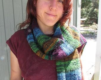 Scarf Knitting Pattern, Lacey Dropstitch Scarf