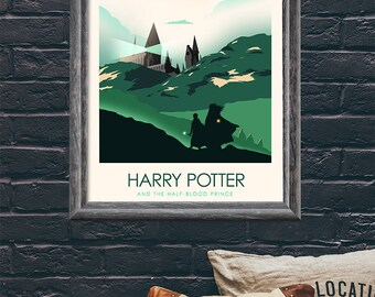 Harry Potter and the Half Blood Prince Movie Print, Art Print, Poster, Minimalist Movie Poster - Harry Potter Poster Set