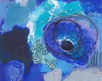 Midnight Garden Original Painting, free shipping