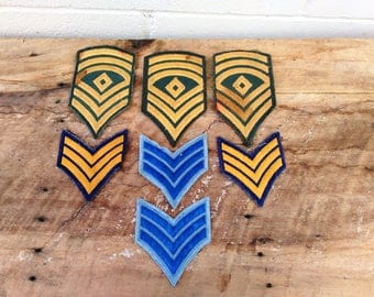 Vintage Military Patches - Sargent Patches - Army - Marines