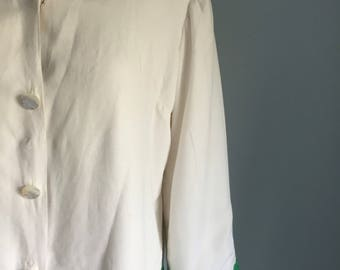Sweet Vintage Sailor Jacket Green Trim