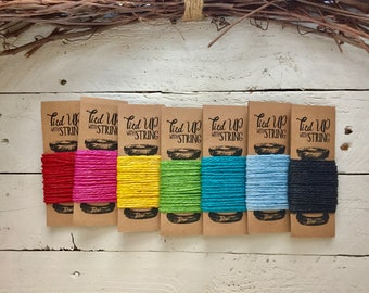 CHRISTMAS Holiday, Paper Twine, Gift Wrapping, Tied Up with String, Packaging, 8 Colors, Buy 3 Get 4th Free
