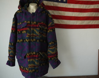 Vintage Nigel Cabourn Aztec Jacket / Navajo jacket / South American Vintage Wool Aztec Jacket, coat, parka, southwest native Indian jacket