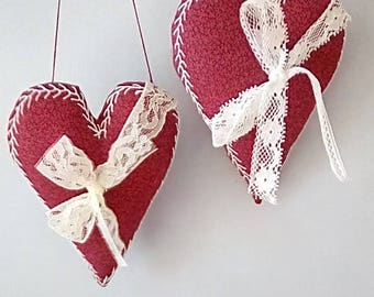 One Hand Embroidered Valentine Heart