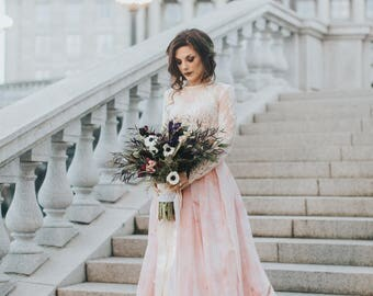 Blush wedding dress etsy wedding skirt tennyson skirt 20 train bridal separates blush wedding dress junglespirit Images