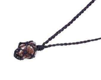 Smoky Quartz Necklace, Smokey Quartz Necklace, Smoky Quartz Jewelry, Crystal Necklace