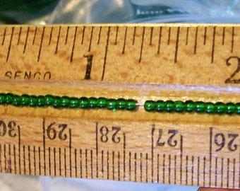1 lb Lot Green Czech GLASS SEED BEADS 11 Hanks x 12 Strands Each 11/0  Rocaille  (approx 44,000 beads)