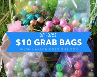 Ready to Ship Bracelet Grab Bags - Chunky Bracelet Goodie Bags - Surprise Gift Bags for Girls - Toddler Chunky bracelet - Easter Basket Gift