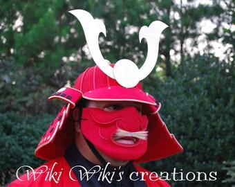 Red Samurai Felt Helmet