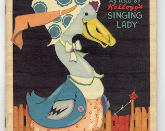 Mother Goose Book Kellogg's Singing Lady Illustrated by Vernon Grant 1933 Kellogg Company