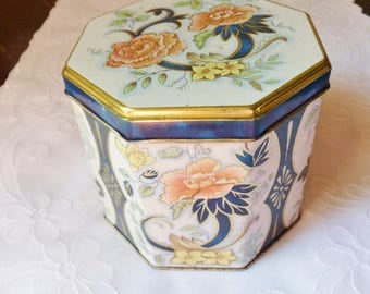 Daher Floral Candy Tin, Toffee Tin from England