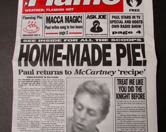 Paul McCartney The Flame Mock Tabloid Newspaper 1997 Photos by Linda McCartney