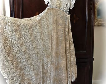 Enchanted Ever After Empire Style Crocheted Dress Romantic Beauty