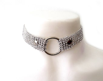 Ignis Choker. Sparkly Ring Crystal Choker.