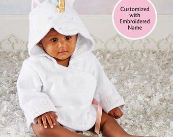 Unicorn Hooded Bath Robe, Baby Bath Robe, Terry Cloth Robe, Animal Hooded Robe, Baby shower gift, Baby christmas gift, Baby Aspen Robe