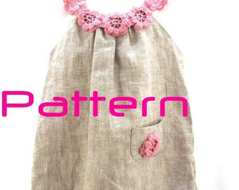 Crochet pattern Pdf , DIY crochet dress, crochet tutorial, crochet baby dress PATTERN, Baby Dress - Girls Dress - newborn to any age