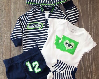 3M Seahawks outfit - 4 piece - Ready to mail!