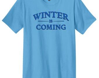 Winter is Coming Shirt, District Threads Shirt, Direct to Garment, Men's Aquatic Blue Shirt, GoT Shirt, Game of Thrones Shirt