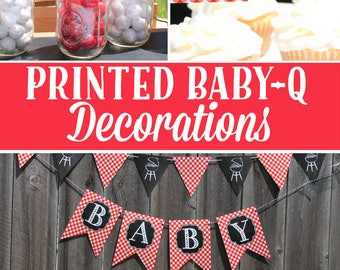 Baby Q Decorations Printed baby shower decorations Package chalkboard Stevie BB19 Printed for you