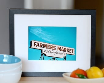 Los Angeles Color Photography/ The Original Farmers Market/ Classic Hollywood Photo/ Retro Photography Print/ Hollywood Photography
