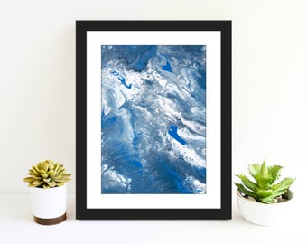 Ocean Surf-Beautiful 8x10 Original Signed Print By Robert Burns.Will look Great At Home Or Office.Original Print,Art Print,Beautiful Print