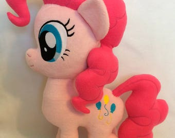 My Little Pony Pinkie Pie Plush / Friendship is Magic / Brony / Cute / Soft / Geekery / Plushie / Toy / Gift / Kawaii / Handmade / Craft