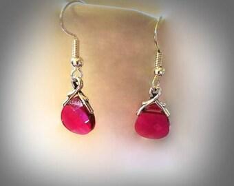 Swarovski briolette earrings ruby red crystal earrings red teardrop earrings hypoallergenic earrings nickel free earrings bridesmaid jewelry