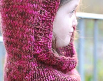Autumn Stroll Hooded Cowl or Children's Hooded Shawl
