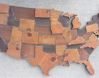 Us Map Etsy - Map of united states