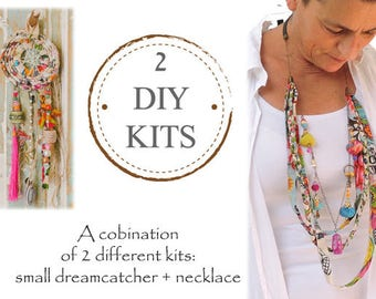 Dreamcatcher Kit, DIY Dream Catcher Kit, Jewelry Making Kit, DIY Jewelry Kit, Craft Projects, Diy Craft, Diy Project, Unique Handmade Kits