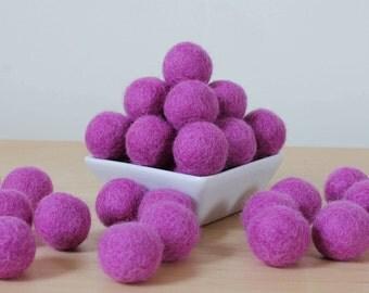 Felt Balls: ORCHID, Felted Balls, DIY Garland Kit, Wool Felt Balls, Felt Pom Pom, Handmade Felt Balls, Purple Felt Balls, Purple Pom Poms