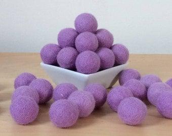Felt Balls: LAVENDER, Felted Balls, DIY Garland Kit, Wool Felt Balls, Felt Pom Pom, Handmade Felt Balls, Purple Felt Balls, Purple Pom Poms