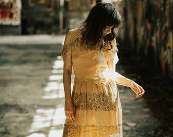 1920s Sleeveless Dress - As Is 20s Dress - XS / Sm